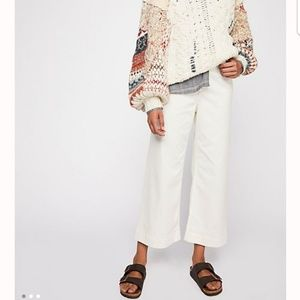Free People Patti High-Rise, Cropped ivory jeans